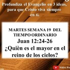 ¿QUIÉN ES EL MAYOR EN EL REINO DE LOS CIELOS? - Mateo 18, 1-5. 10. 12-14