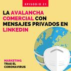 La avalancha comercial con mensajes privados en LinkedIn